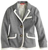 J.Crew Girls' schoolboy blazer in tipped flannel