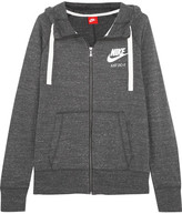 Nike Gym Vintage Cotton-blend Hooded Top - Anthracite