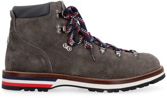 Moncler Peak Suede Lace-up Ankle Boots