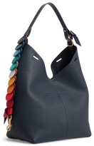 Anya Hindmarch Small Circles Leather Hobo - Blue