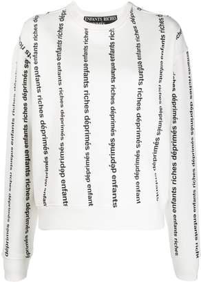 Enfants Riches Deprimes logo stripe relaxed-fit sweatshirt