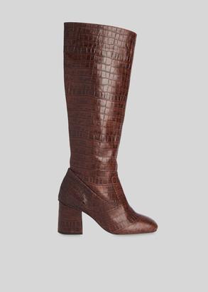 Hazel Croc Knee High Boot