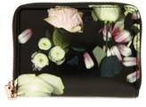 Ted Baker Mayycie Kensington Floral Leather Mini Purse - Black