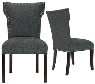 Alcott Hill Kober Upholstered Dining Chair Upholstery Color: Charcoal