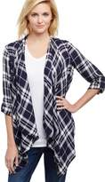 Plaid Nursing Wrap Shirt