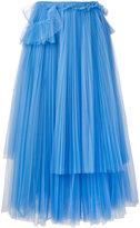 Rochas pleated midi skirt - women - Polyamide - 42