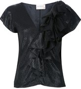 Maison Rabih Kayrouz ruffled blouse - women - Silk/Viscose/Polyimide - 36