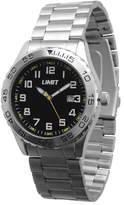 Limit Men's Silver Coloured Bracelet Watch 5407.50 With Jet Black Dial