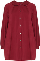 Isolde Roth Plus Size Peter pan collar jersey top