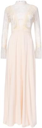 True Decadence Cream Lace Long Sleeve Maxi Dress