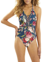 Sunseeker Wildflower Lace Up One Piece