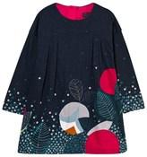 Catimini Navy Flower Print Jersey Dress