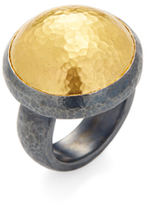Gurhan Sterling Silver & 24K Yellow Gold Dome Ring
