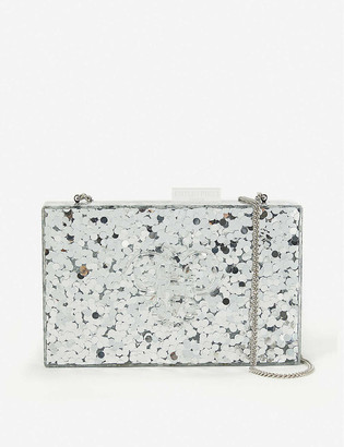 Vestiaire Collective Edie Parker sequinned perspex clutch bag