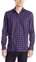 Stone Rose Men's Tartan Long Sleeve Button Down Shirt