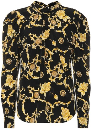Veronica Beard Mena printed stretch-silk blouse