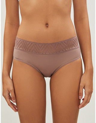 THINX Hiphugger lace and stretch-cotton briefs