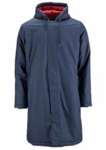 Rains Long Padded Blue Jacket - XS/S - Blue