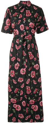 Adam Lippes Daisy-Print Shirt Maxi Dress