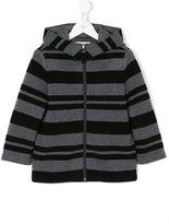 Il Gufo stripe hooded jacket - kids - Cotton/Polyamide/Modal/Wool - 4 yrs