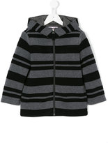 Il Gufo stripe hooded jacket