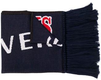 Versace Cowboys Love intarsia scarf