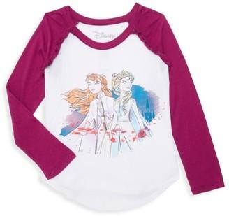 Chaser Disney's Frozen 2 Little Girl's & Girl's Elsa & Anna Raglan Baseball Tee