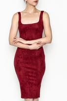 Nude Knit Suede Dress