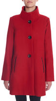 Novelti Wool-Blend A-Line Coat