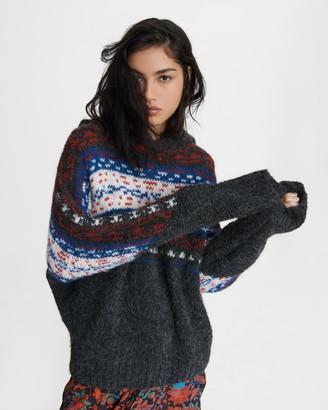 Rag & Bone Finlay alpaca blend hoodie