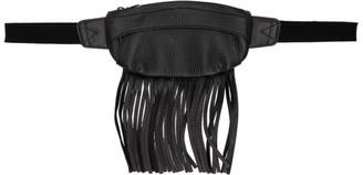 SASQUATCHfabrix. Black Leather Fringe Waist Pouch