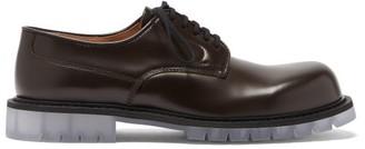 Bottega Veneta Transparent-sole Leather Derby Shoes - Brown