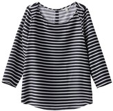 Tom Tailor Boat Neck Breton Blouse with 3/4 Length Sleeves