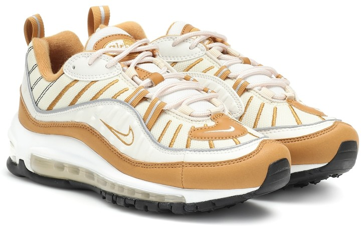 Nike Air Max 98 suede and mesh sneakers