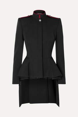 Alexander McQueen Wool-crepe Peplum Blazer - Black