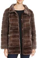 Maximilian Furs Suede Trim Mink Fur Coat - Bloomingdale's Exclusive