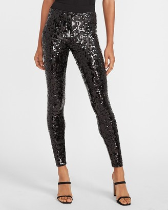 Express High Waisted Sequin Leggings