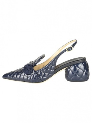Anya Hindmarch Blue Leather Sandals