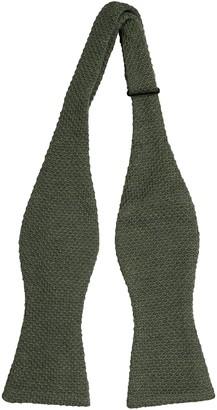 Notch Men's Knitted Self-tie Bow Tie - Dark green melange moss knit