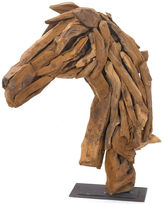 One Kings Lane 27 Wood Horse-Head Stand, Brown