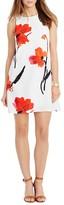 Ralph Lauren Petites Sleeveless Painted Flowers A-Line Dress