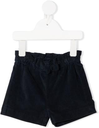 Il Gufo Bermuda velvet shorts