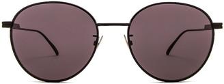 Bottega Veneta Metal Round Sunglasses in Semimatte Black | FWRD