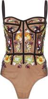 Cushnie et Ochs Mina Embellished Bodysuit