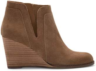 Lucky Brand Yabba Round Toe Suede Booties