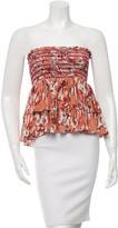 Sam&lavi Sam & Lavi Ruched Silk Skirt w/ Tags