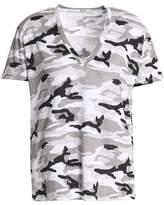 Monrow Printed Stretch-Jersey T-Shirt