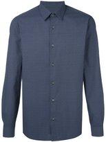 Z Zegna micro geometric pattern shirt