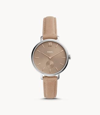 Fossil Kalya Three-Hand Blush Leather Watch jewelry