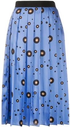 Victoria Victoria Beckham Record Polka Dot pleated skirt